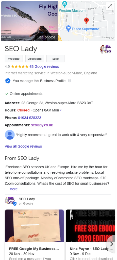 All SEO Company Bristol Freelancer WordPress Consultant Google Certified Ranking eCommerce Local Small Business Maps Mentor SME