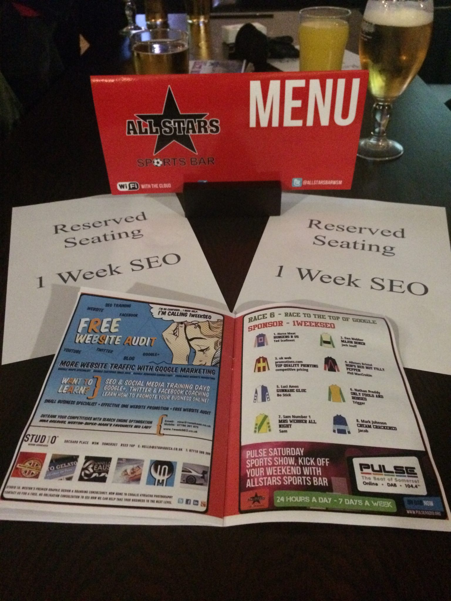 1weekSEO Race Night Charity Fundraising 2015