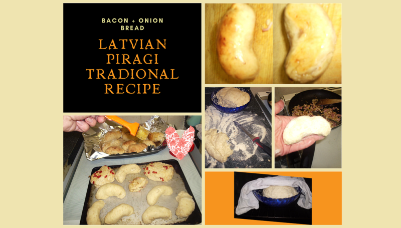 Traditional Latvian Piragi Recipe Nina Payne Grandmas Method Bacon Onion Buns Rolls Fresh Yeast