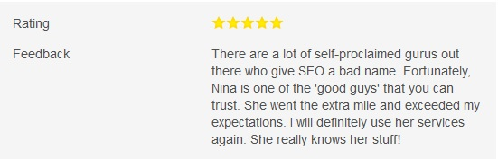 1weekseo Review 2015 Nina Greaves SEO Reference