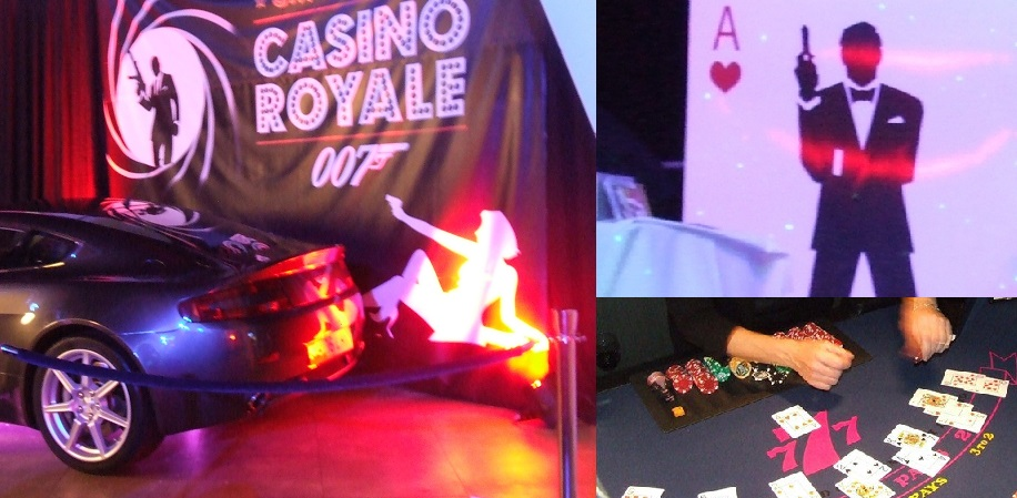 Christmas Party 2015 Aces Fun Casino 007 James Bond Casino Royale Party Night Roulette Blackjack Hire Somerset