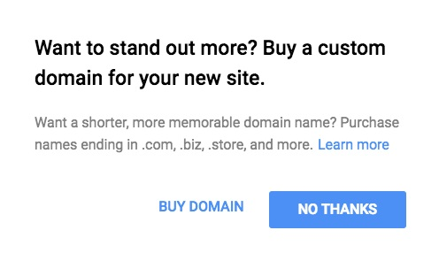 Google Business Buy Domain 2017