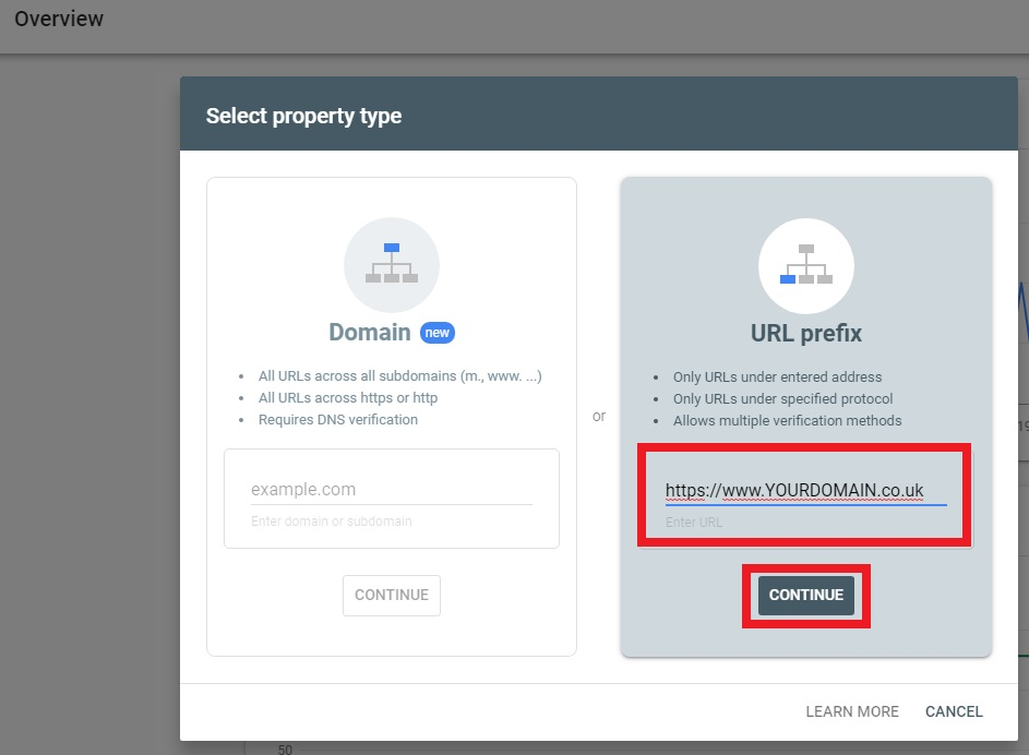 How To Verify Google Search Console Verification Website 2 2019