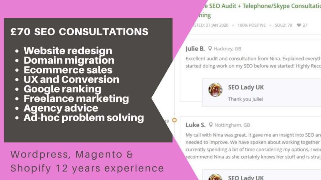 SEO Freelancer UK Consultant Google Ranking Website Redesign Domain Migration Digital Manager