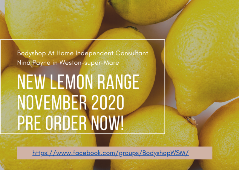 Bodyshop Weston super Mare Independent Consultant Lemon Cleansing Anti-bacterial Hand Sanitiser 2020 November