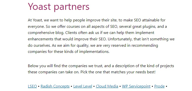 LSEO YOAST PARTNER Independent SEO Consultant Freelancer VSEO Backlinks Google Ranking