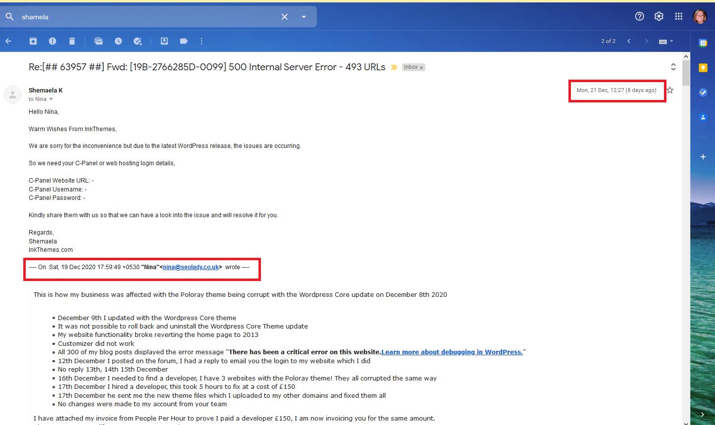 Poloray Wordpress Shamela Developer Theme 2015 Customizer Broken Not Working Core Update December 2020