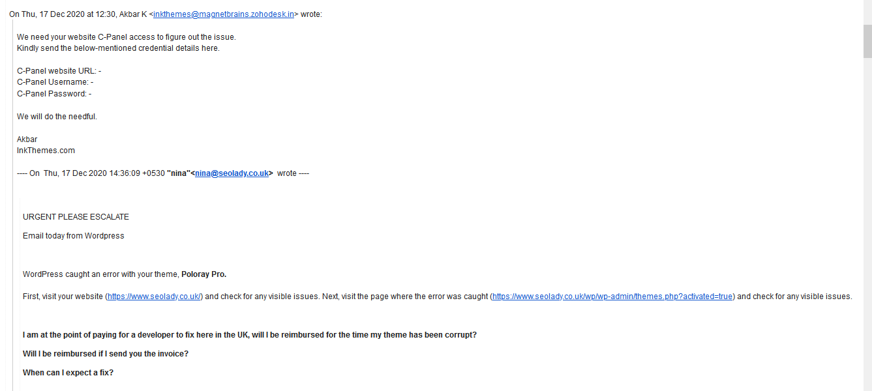 Pankaj Agarwal Poloray Wordpress Developer Theme 2015 Customizer Broken Not Working Core Update December 2020