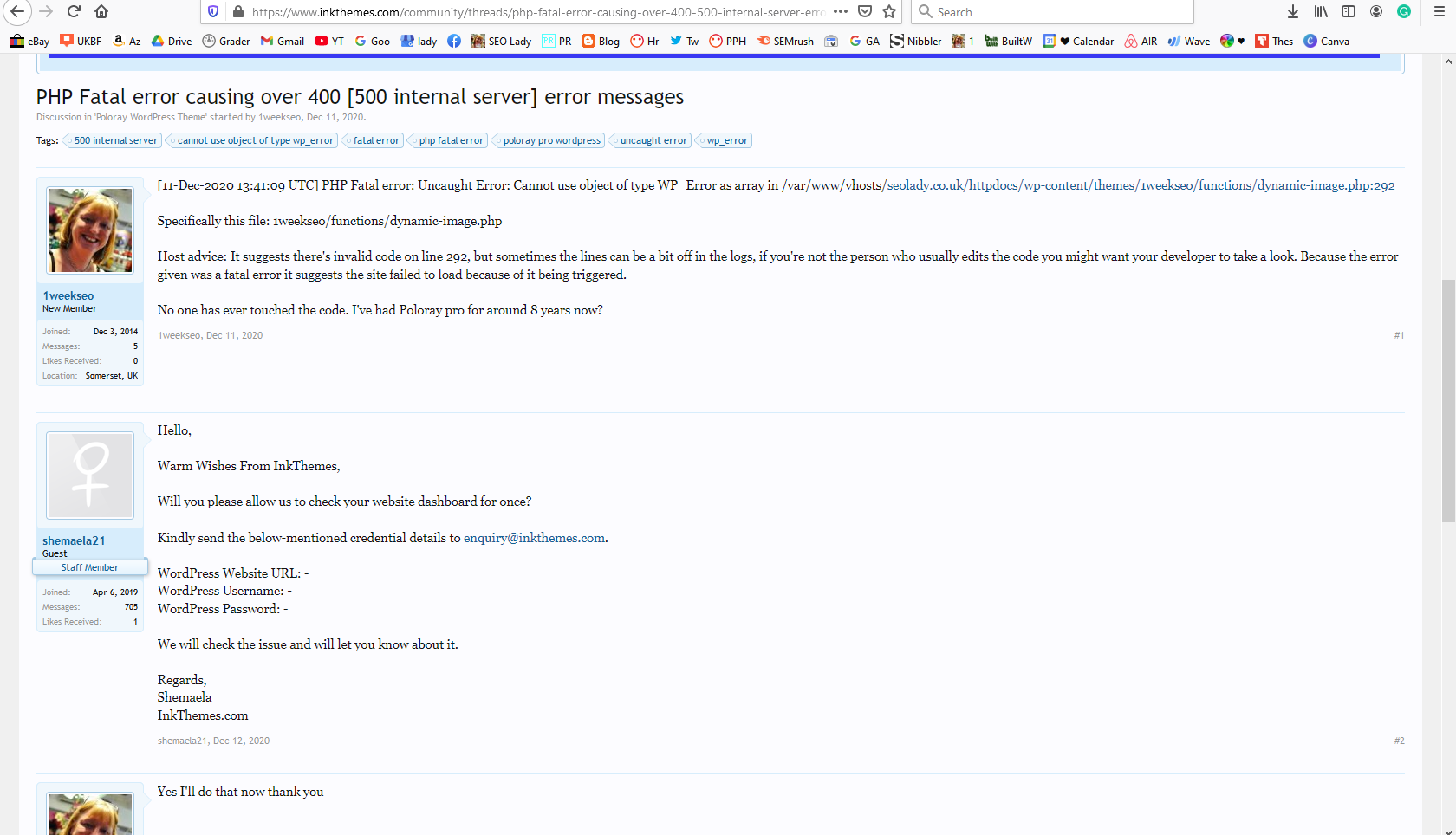 Poloray Theme Wordpress InkThemes Review Bad Customizer Broken Not Working Core Update 2020
