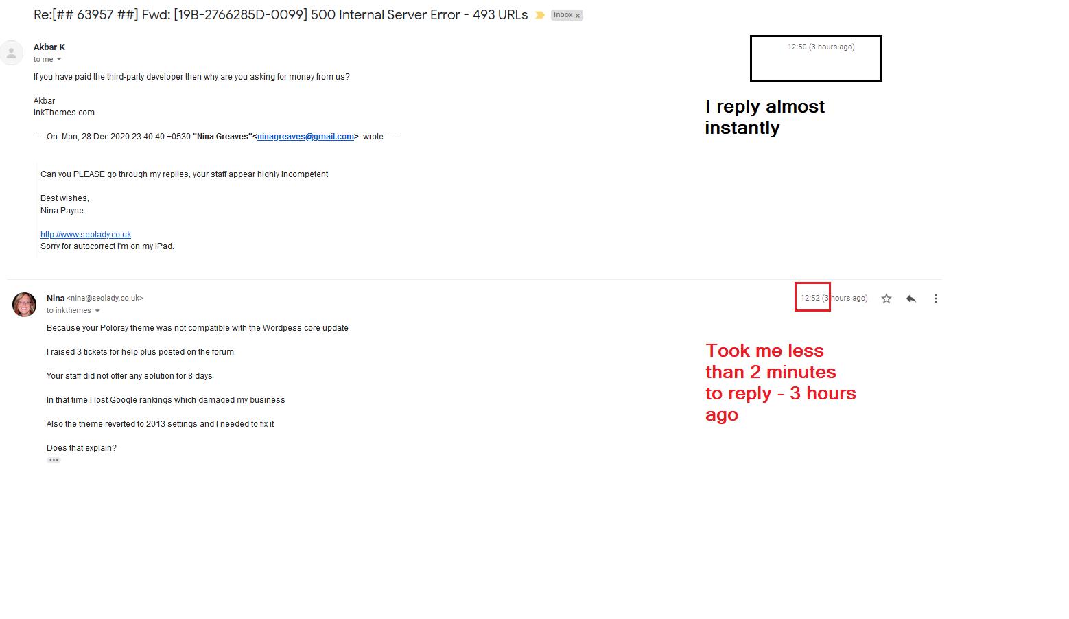 ress Theme InkThemes Review Bad Poor Customer Service Customizer Broken Not Working Core Update 2020