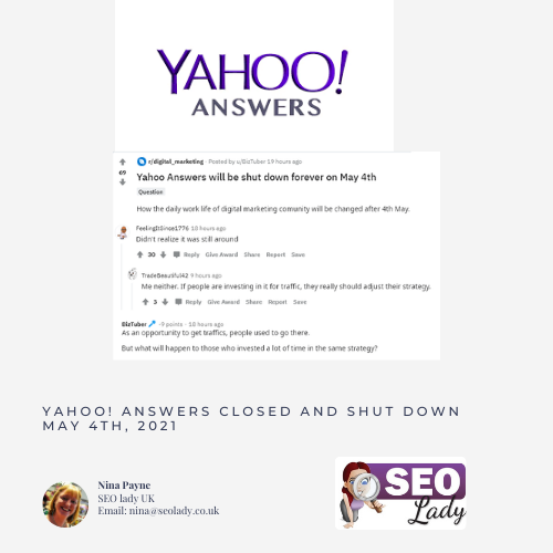 Yahoo Answers gone 2021 shut down closed When did Yahoo Answers close