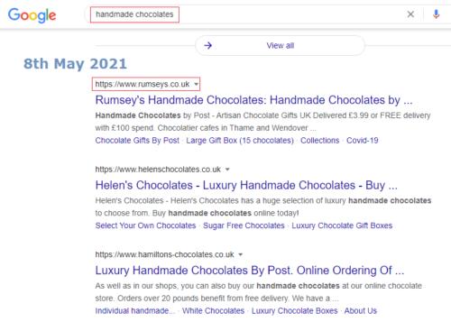 Shopify SEO Case Study eCommerce UK 2021
